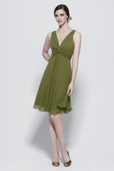 Olive and Pink Bridesmaid Dresses