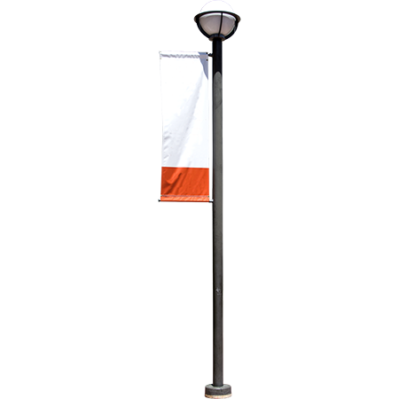An Outdoor Lamp Post Near A Museum Or Other Public Building With A Promotional Banner Outdoor Lamp Posts Street Lamp Outdoor Lamp