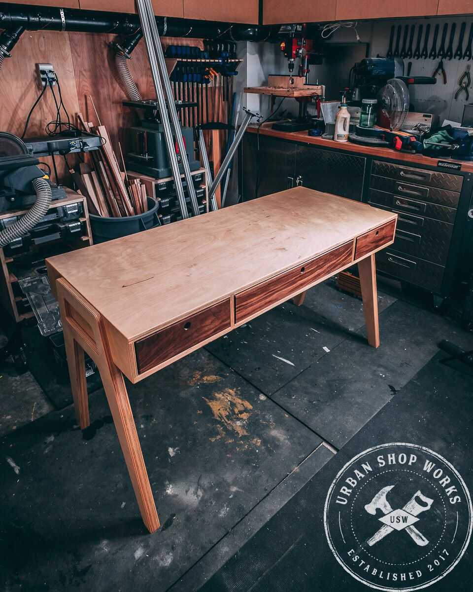 Midcentury Modern Plywood Desk Plywood Desk Plywood Projects Desk Plans