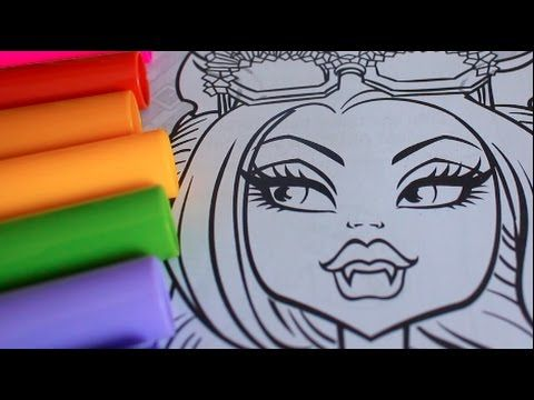 COLORING WITH CRAYOLA MARKERS HOWLEEN WOLF AND CATTY NOIR MONSTER ...