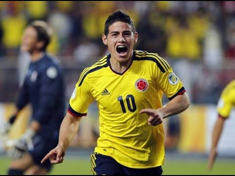 James Rodriguez All 6 Goals in World Cup 2014 With English