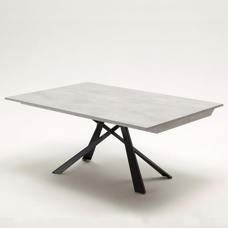 Table Design Italienne Extensible Avec Pied Mikado Lungo Largo Table Design Table Salle A Manger Salle A Manger Table Ronde