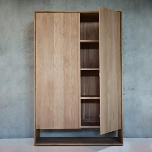 Ethnicraft Oak Nordic Linen Press/Storage Cupboard