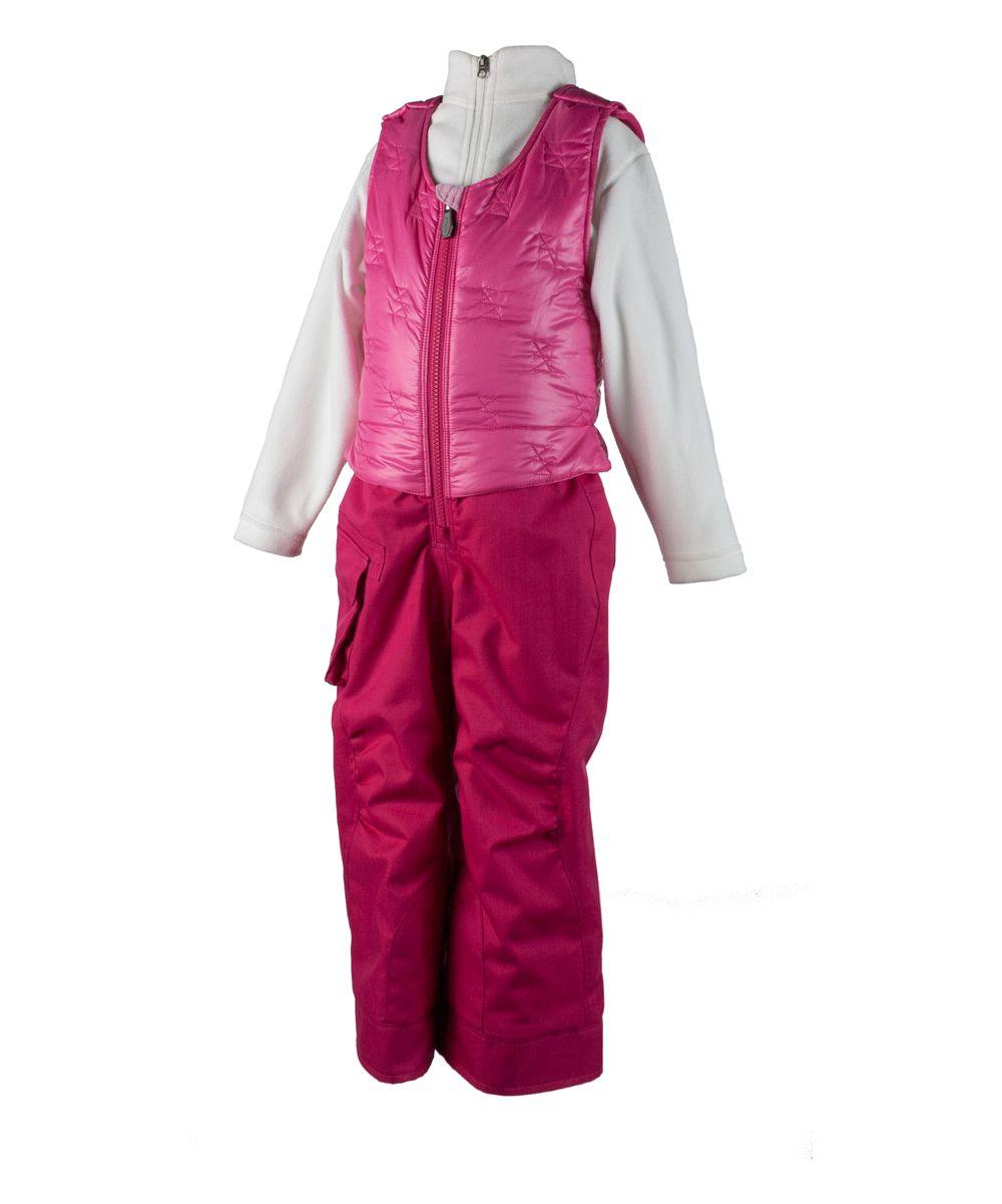 20f659133 Glamour Pink ChaCha Ski Bib - Toddler & Girls   Products   Toddler ...