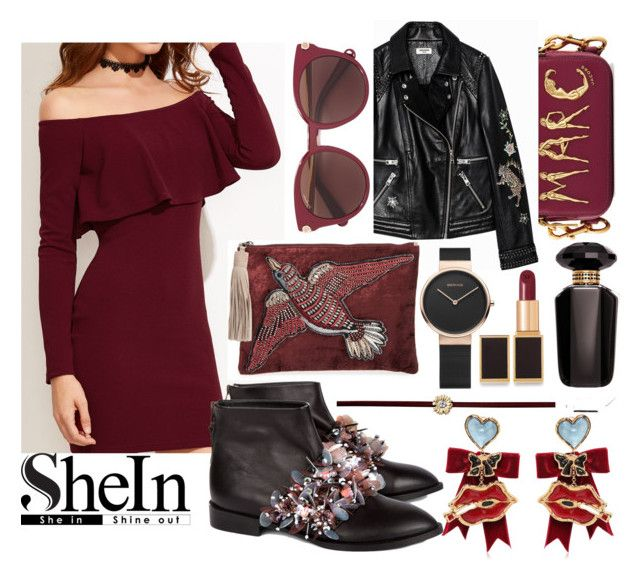"""""""Burn bright 🔥"""" by asnaate ❤ liked on Polyvore featuring Marc Jacobs, Anouki, Sam Edelman, Salvatore Ferragamo, Dsquared2, Sydney Evan, Victoria's Secret, Tom Ford and burgundy"""