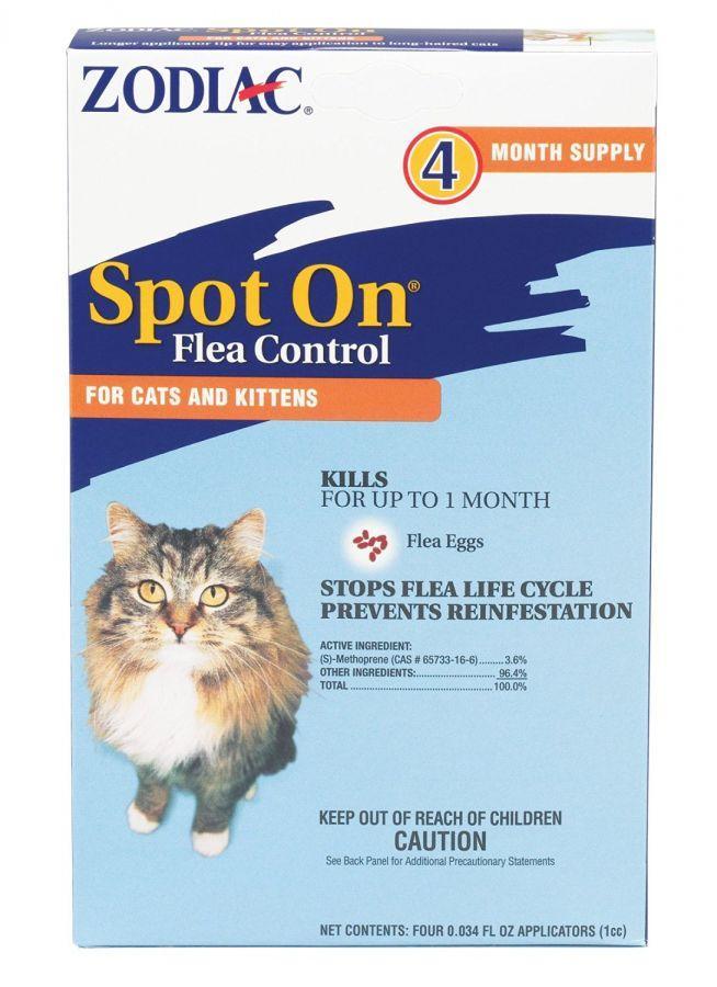 Zodiac Spot On Flea Controller For Cats Kittens 100505296 In 2020 Cat Fleas Flea Control For Cats Cats Kittens