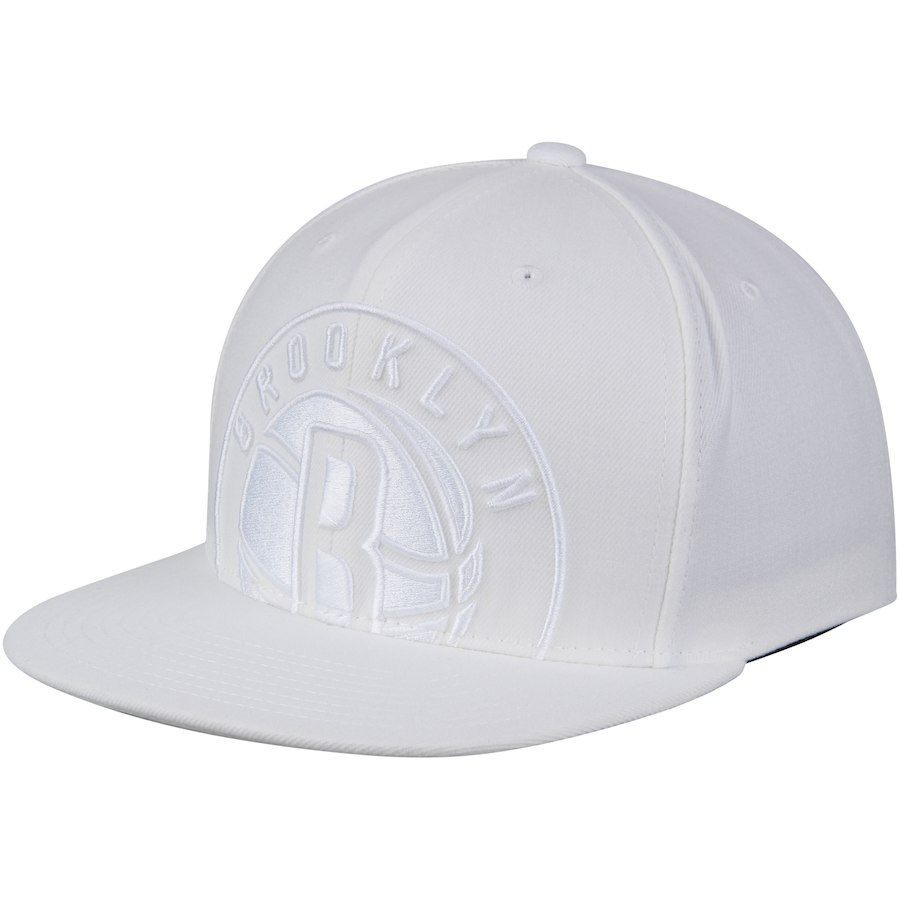quality design 1ca3a 2d874 Men s Brooklyn Nets Mitchell   Ness White Cropped XL Logo Snapback  Adjustable Hat, Your Price   31.99