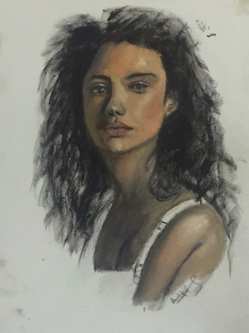 Oil on canvas paper