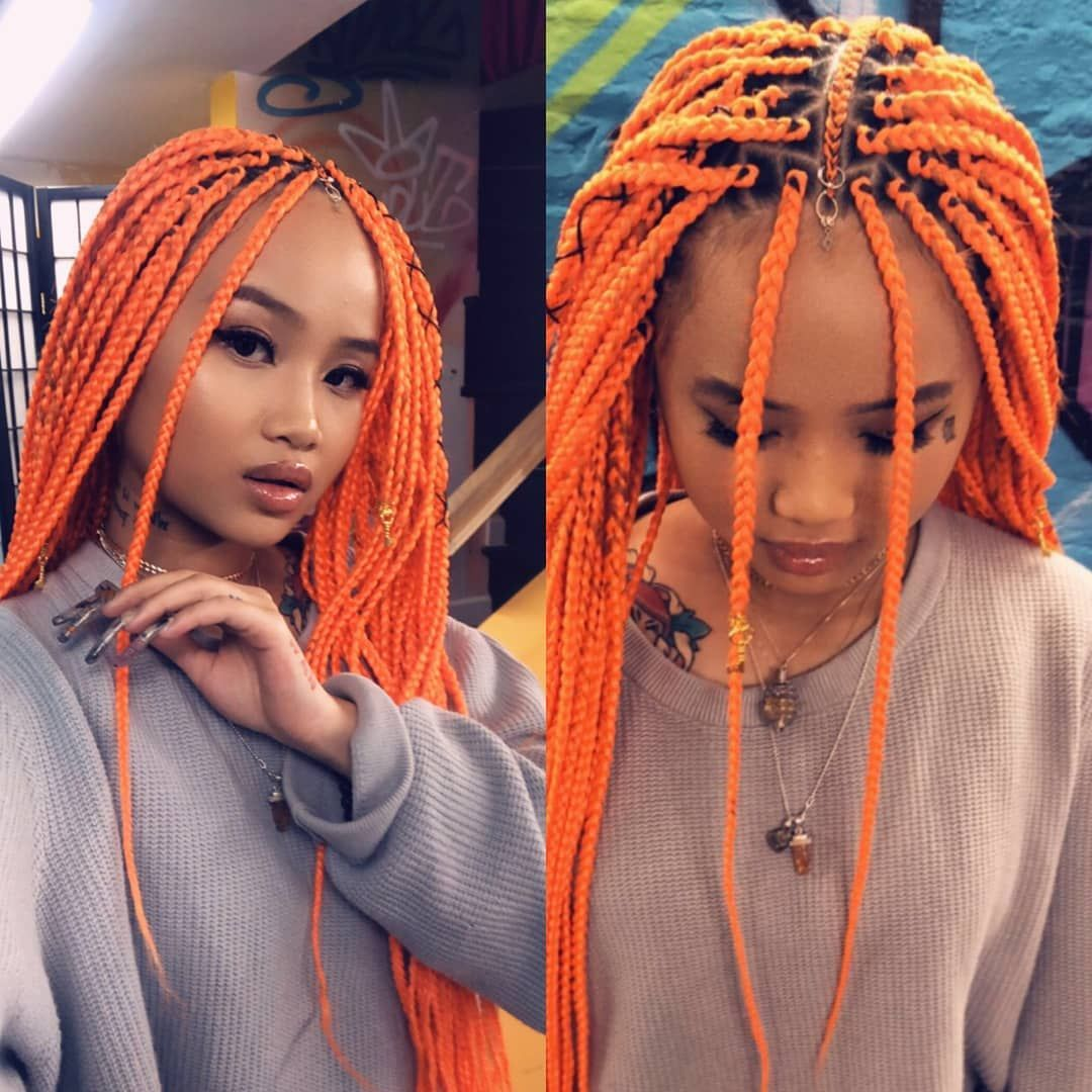 "Agatha on Instagram: ""@cocamichelle  #feedinbraids #feedins #braidsgang #braidstyles #boxbraids @hairandbarber_crushes"" #longboxbraids"