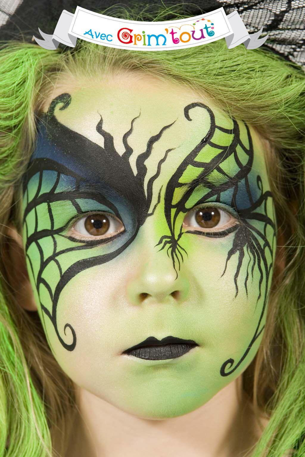 Un maquillage terrifiant pour devenir une sorcière verte