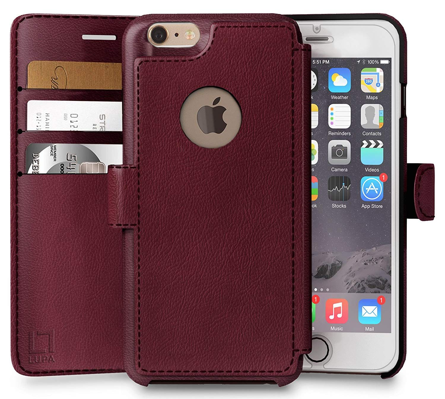 Amazon Com Iphone 6 Plus 6s Plus Wallet Case Durable And Slim Lightweight With Classic Design Ultra Str Iphone 6s Wallet Cases Iphone 6 Plus Best Iphone