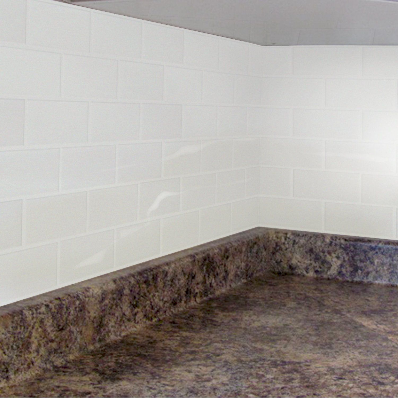Amazon Com Peel Impress 11 25 X 10 Adhesive Vinyl Wall Tiles Crystal Subway 4 Pack Vinyl Wall Tiles Decorative Wall Tiles Stick Tile Backsplash
