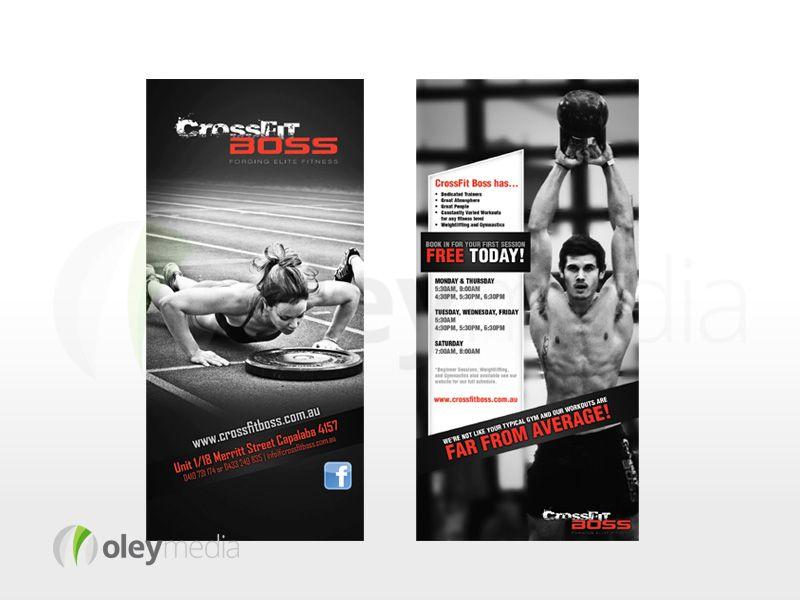 Crossfit Boss 2 Sided DL Flyer Design Flyers, Brochures - gym brochure