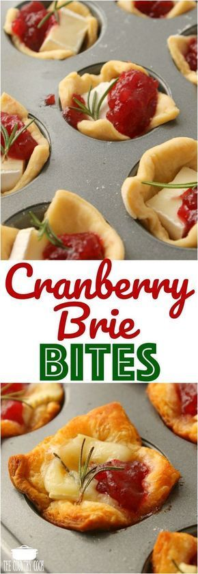 Cranberry Brie Bites #easythingstocook