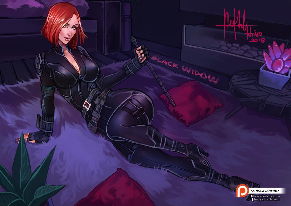 Black Widow Futa pin on fun stuff