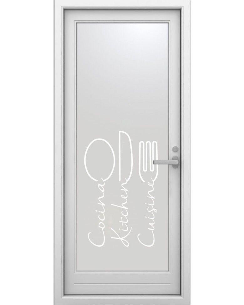 Vinilo translucido para puertas de cocina 29 restaurante - Puerta cocina cristal ...