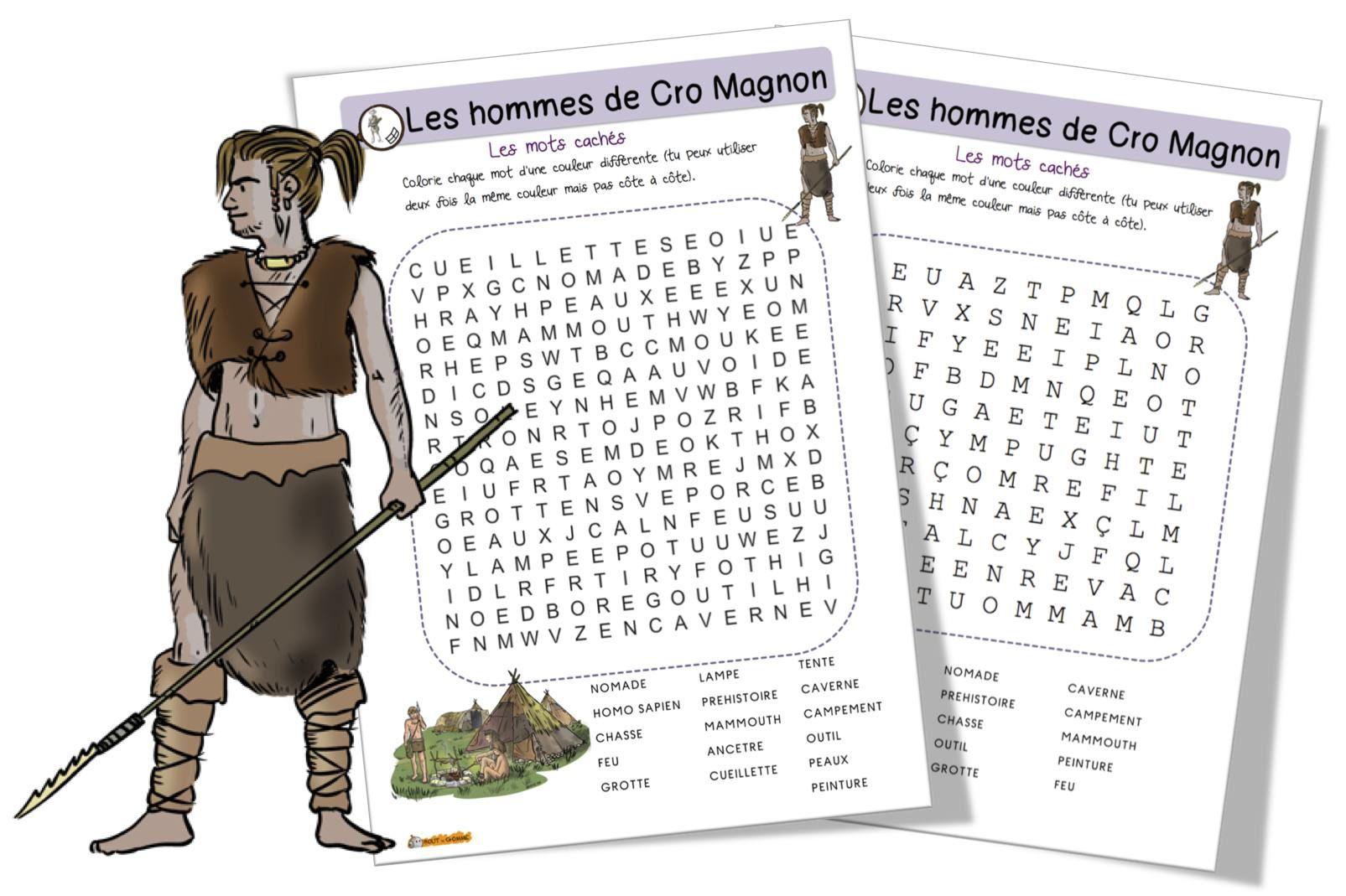 Mots mªlés Les hommes de Cro Magnon