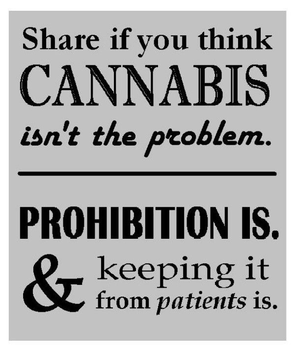 Prohibition is the problem