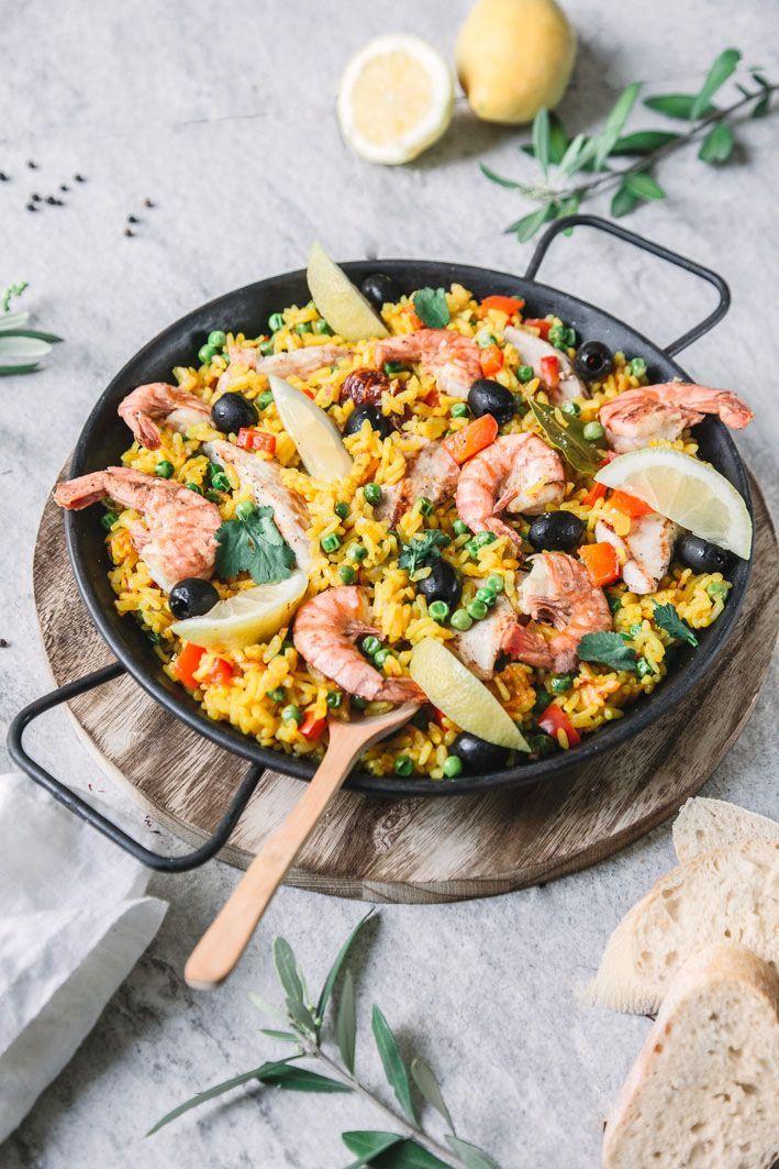 paella mit hühnchen und garnelen rezept paella rezept
