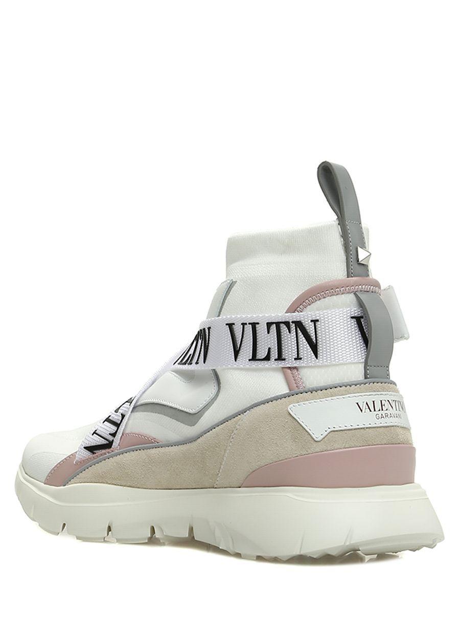 Valentino Garavani Beyaz Kadin Beyaz Corap Formlu Colorblocked Kadin Sneaker 584597 Beymen Valentino Garavani Sneaker Valentino