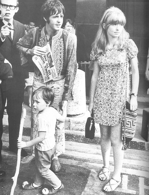 Paul With Julian Lennon Jane Asherlove The Headline Of Paper
