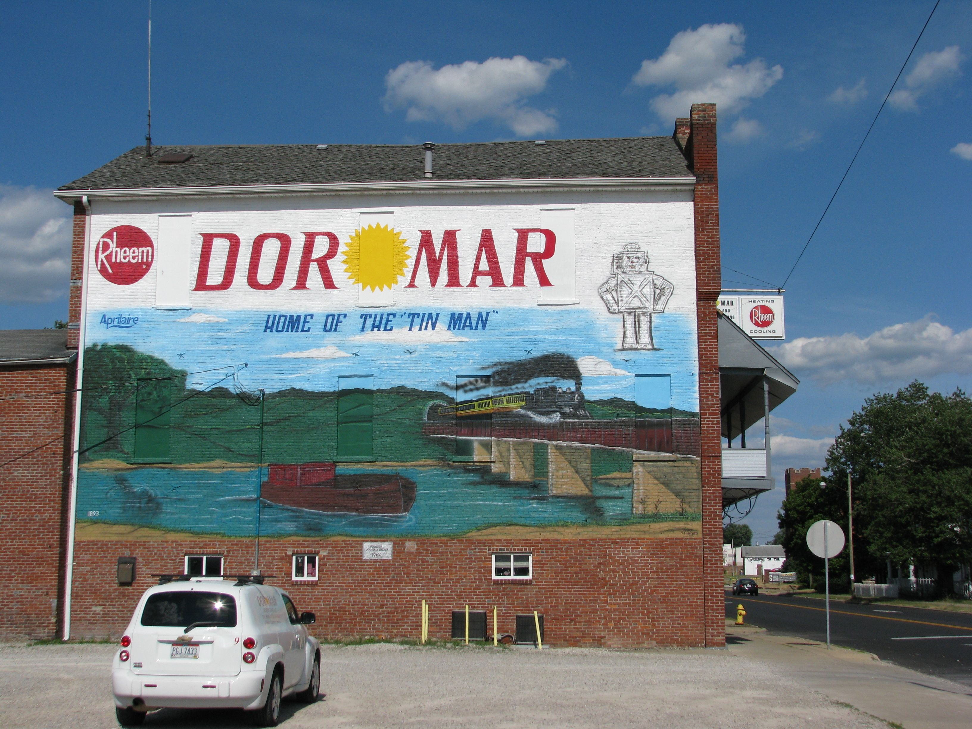 Mural On The Side Of The Dormar Heating Air Conditioning