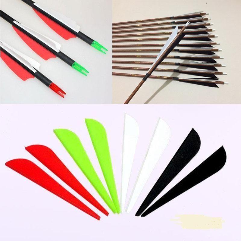 "100pcs 2/"" Rubber Plastic Feather Arrow Vanes Fletching Bow DIY Hunting Archery"