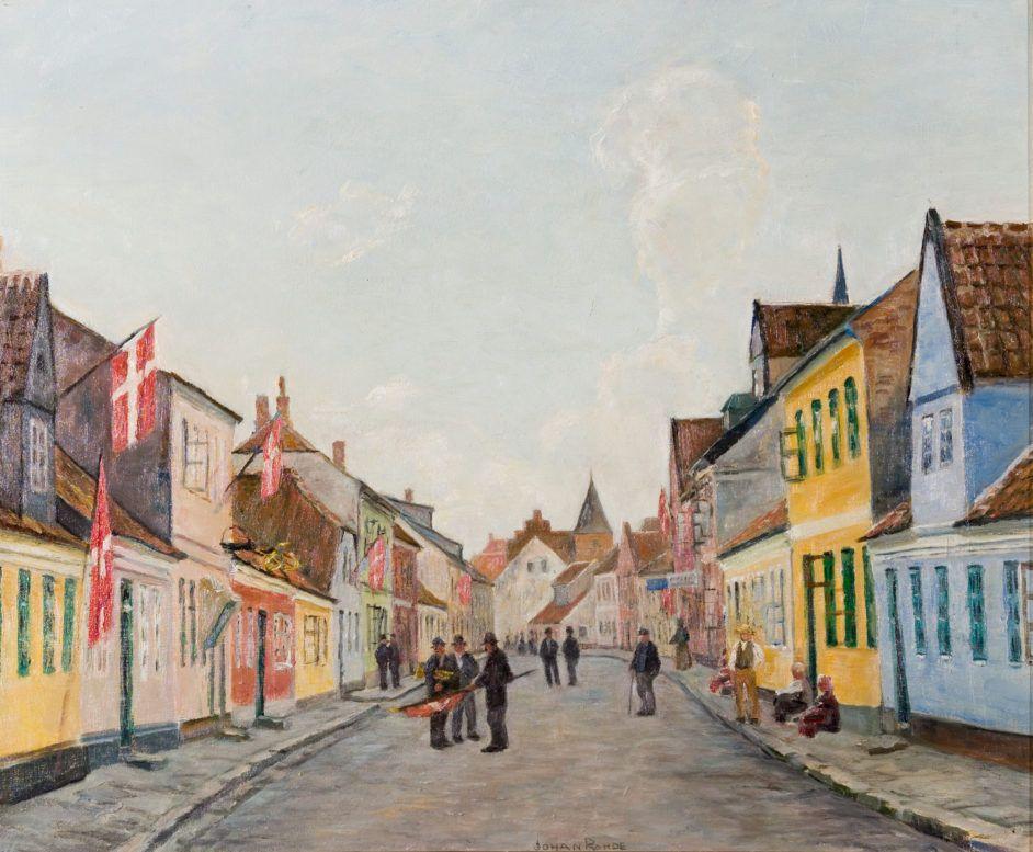 Johan Rohde Danish Artist Randers 1856 Hellerup 1935 Gronnegade I Fest Festival In Gronnegade Artist Painting Art