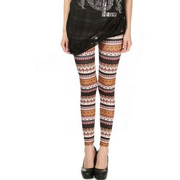 Orange Modern Womens Reindeer Printed Qmilch Tribal Leggings (4.920 CRC) ❤ liked on Polyvore featuring pants, leggings, orange, tribal print trousers, tribal print pants, tribal leggings, tribal pants and orange pants