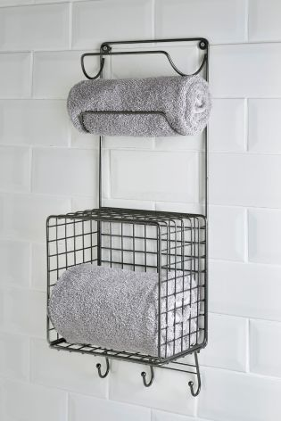 Buy Wire Wall Mounted Towel Store From The Next Uk Online Shop Wall Mounted Wire Baskets Towel Basket Bathroom Towel