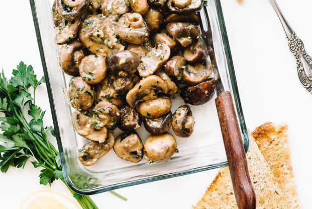 Oven-Roasted Dijon Mushrooms Recipe | Food52  #mushrooms #mustard #Dijon_mustard #vegetables