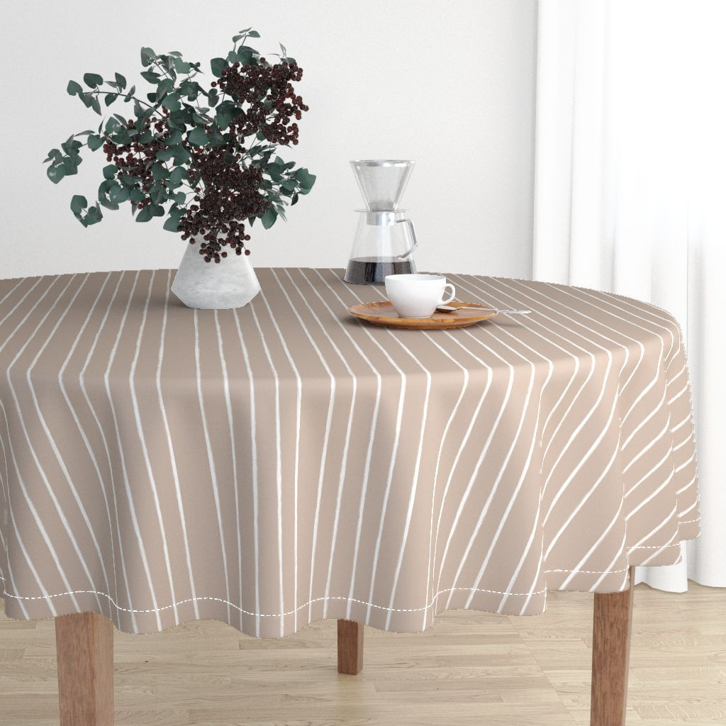 Your Tablecloth Doesn T Need To Be Boring Refresh Your Kitchen With A Modern Tablecloth Designed By Form Cr Round Tablecloth Table Cloth Home Decor