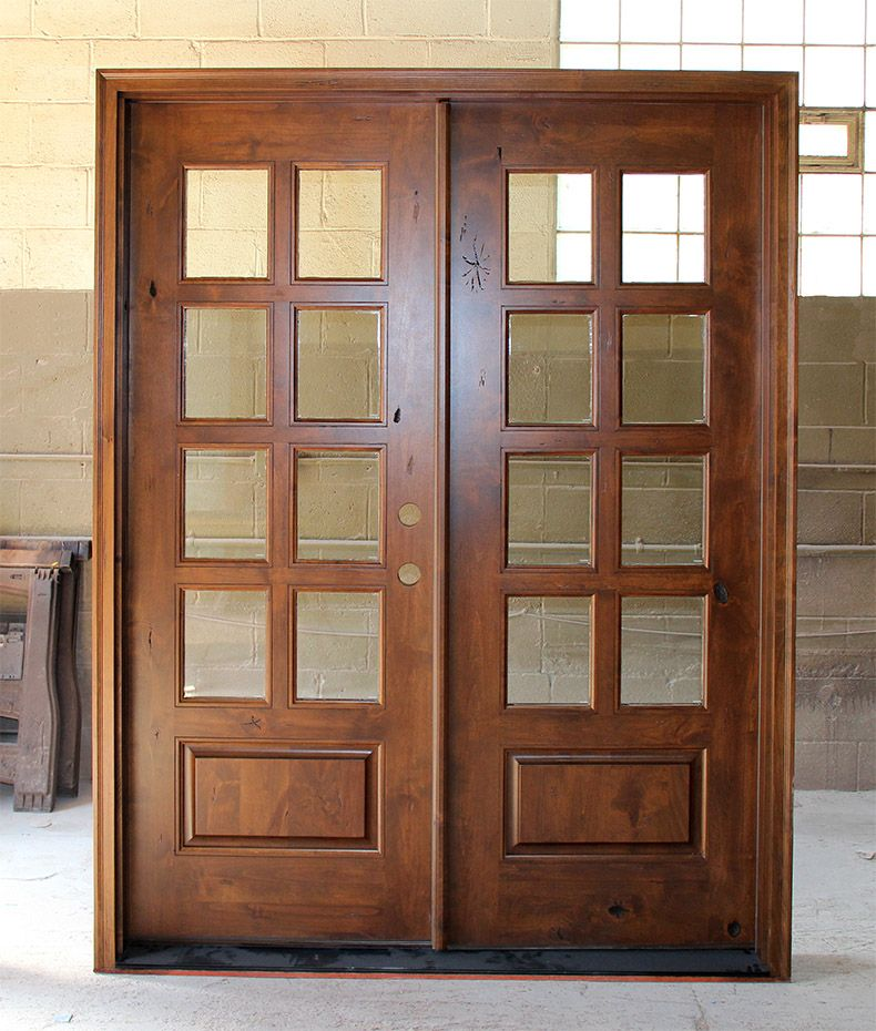 Knotty Alder Exterior Double Doors