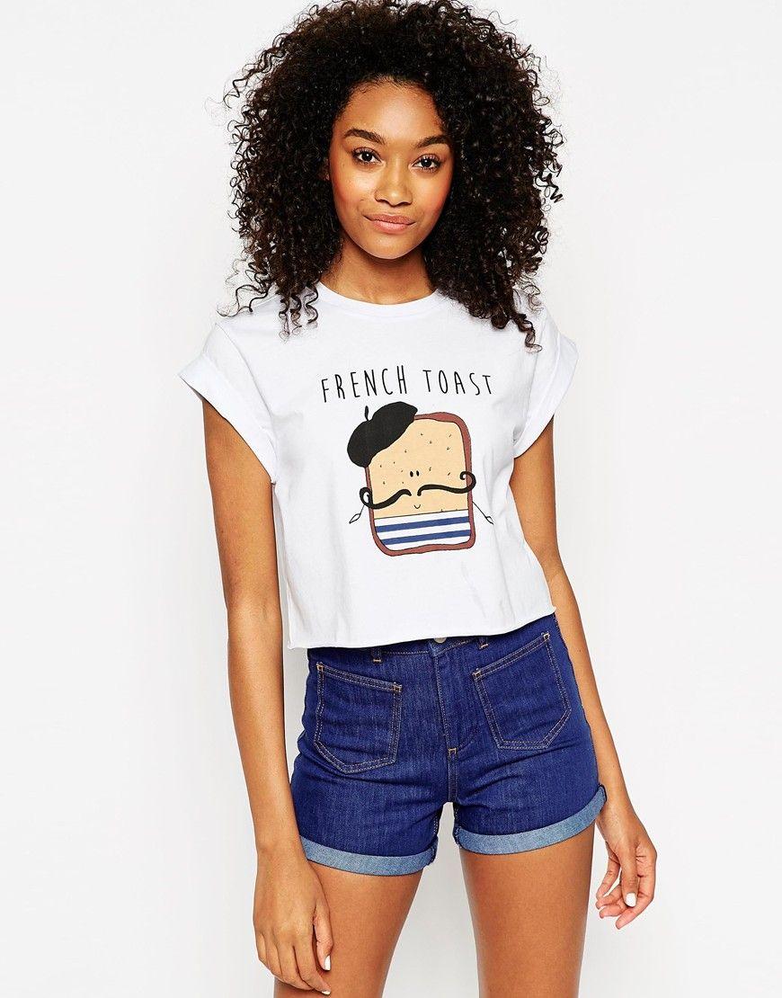 8c7d02f770fa2 Bild 1 von ASOS – Kurzes T-Shirt mit French Toast-Print | Clothes ...