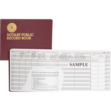 Dome Dom880 Notary Public Book 1 Each Burgundy White Notary Public Notary Public