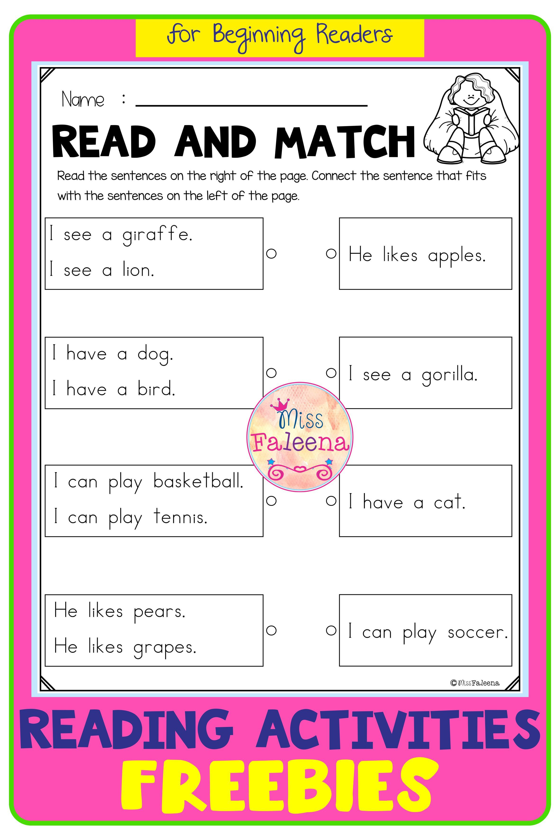 Free Reading Activities Di