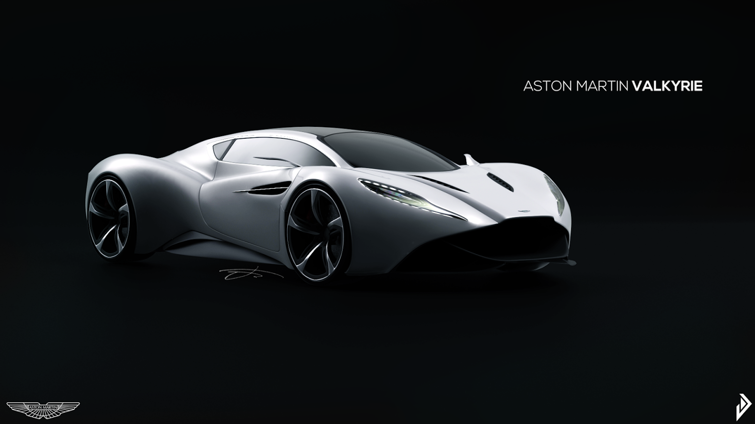 the aston martin valkyrie in pearl white! simplicity, carried to an