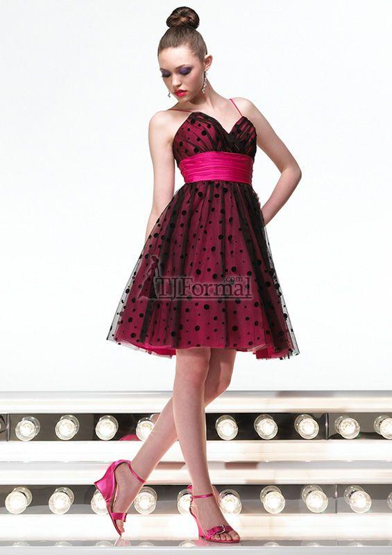 Black And Hot Pink Bridesmaids Dresses Wedding Boston Pinterest