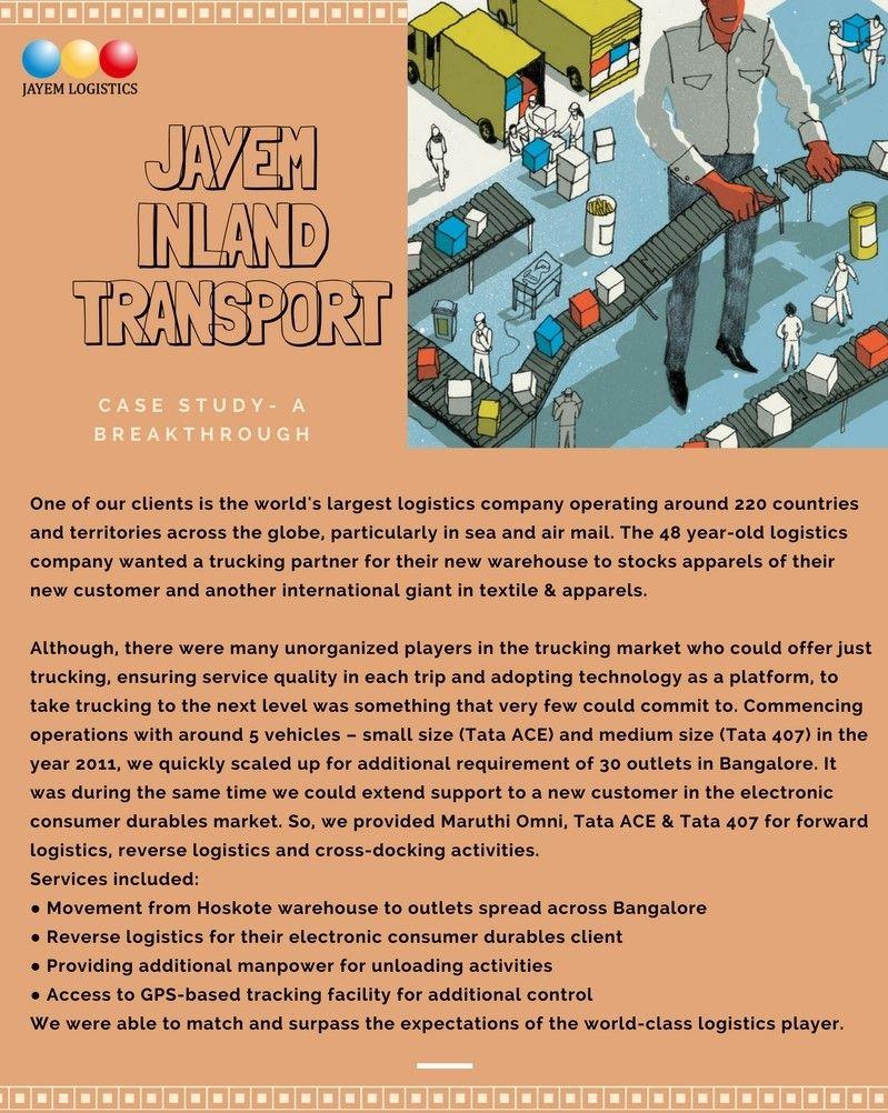 Jayem inland transport is a unit of jayem logistics a