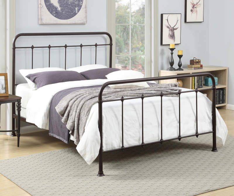 Brown Metal Curved Queen Bed in 2020 Bed linens luxury