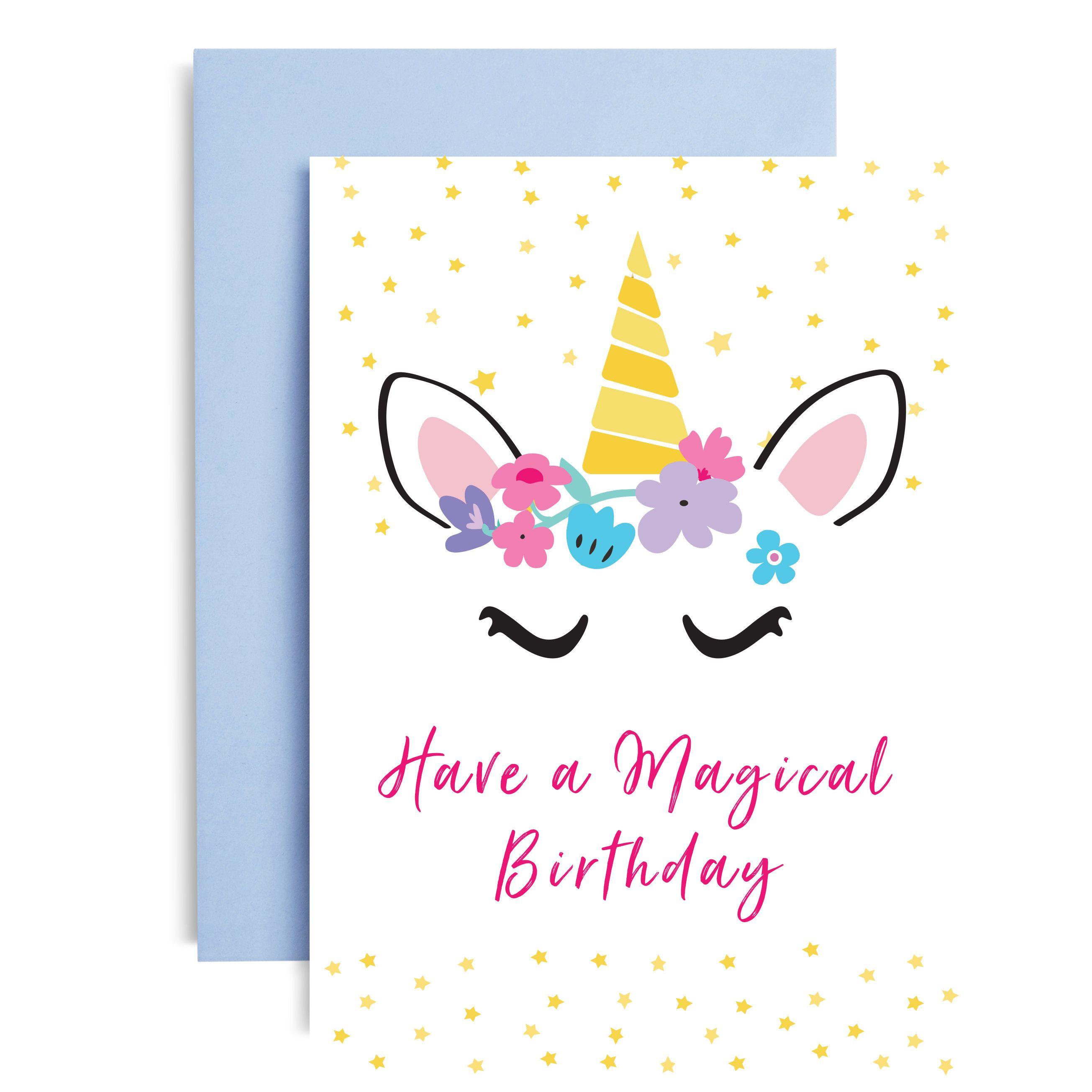 Unicorn Birthday Card Unicorn Card Birthday Card Unicorn Fan Unicorn Birthday Unicorn Bir Unicorn Card Unicorn Birthday Cards Birthday Card Drawing