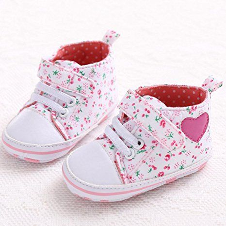 f3cc3eec94094 Amazon.com: Voberry Baby Girls Toddler Lace up Sneaker Anti-slip ...