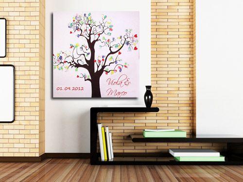 leinwand mit fingerabdr cken als erinnerung an die hochzeit handarbeiten pinterest. Black Bedroom Furniture Sets. Home Design Ideas