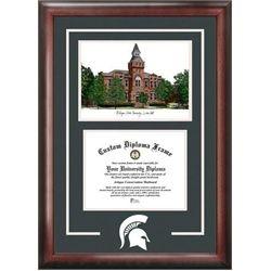 michigan state university spartans alumni mahogany diploma frame - Michigan State Diploma Frame