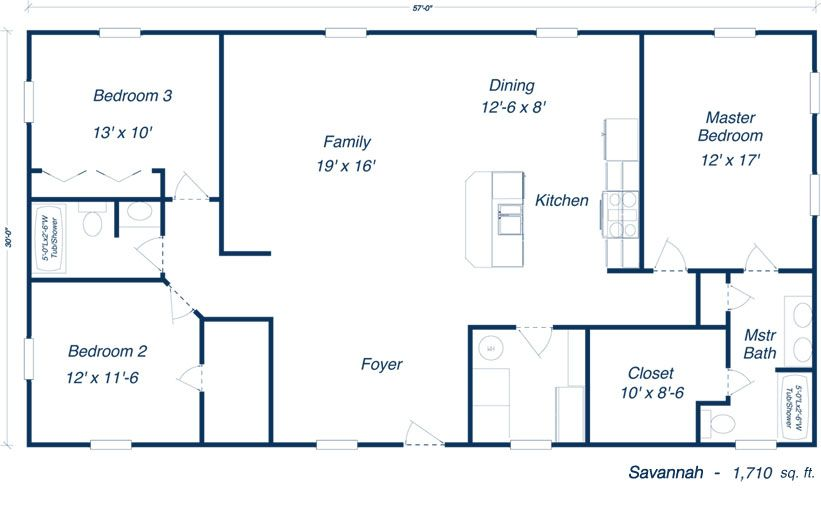 Add A Door To Master Suite Aligned W Kitchen Wall Eliminate The Linen Closet To Allow Direct Metal Building House Plans Barndominium Floor Plans House Plans