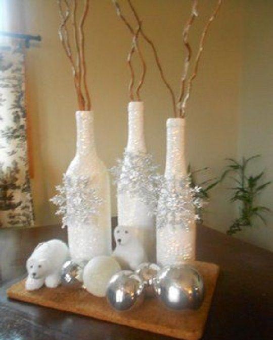 winterdeko diy pinterest winterdeko weihnachten und flaschen. Black Bedroom Furniture Sets. Home Design Ideas