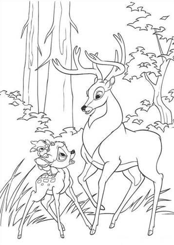schöne malvorlage bambi 2 auf kidsnfunde in 2020