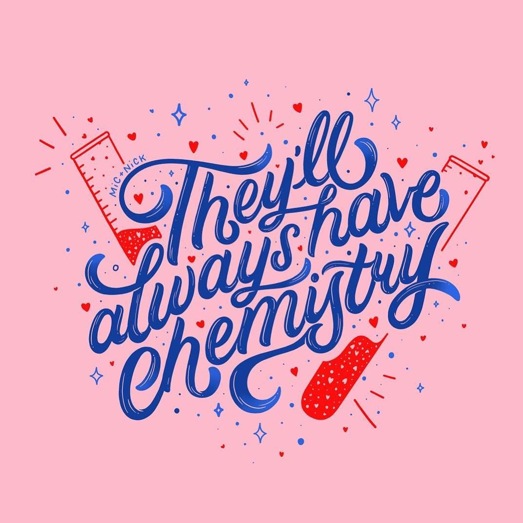 They will always have chemistry script lettering ipad lettering hand lettering by kate pullen