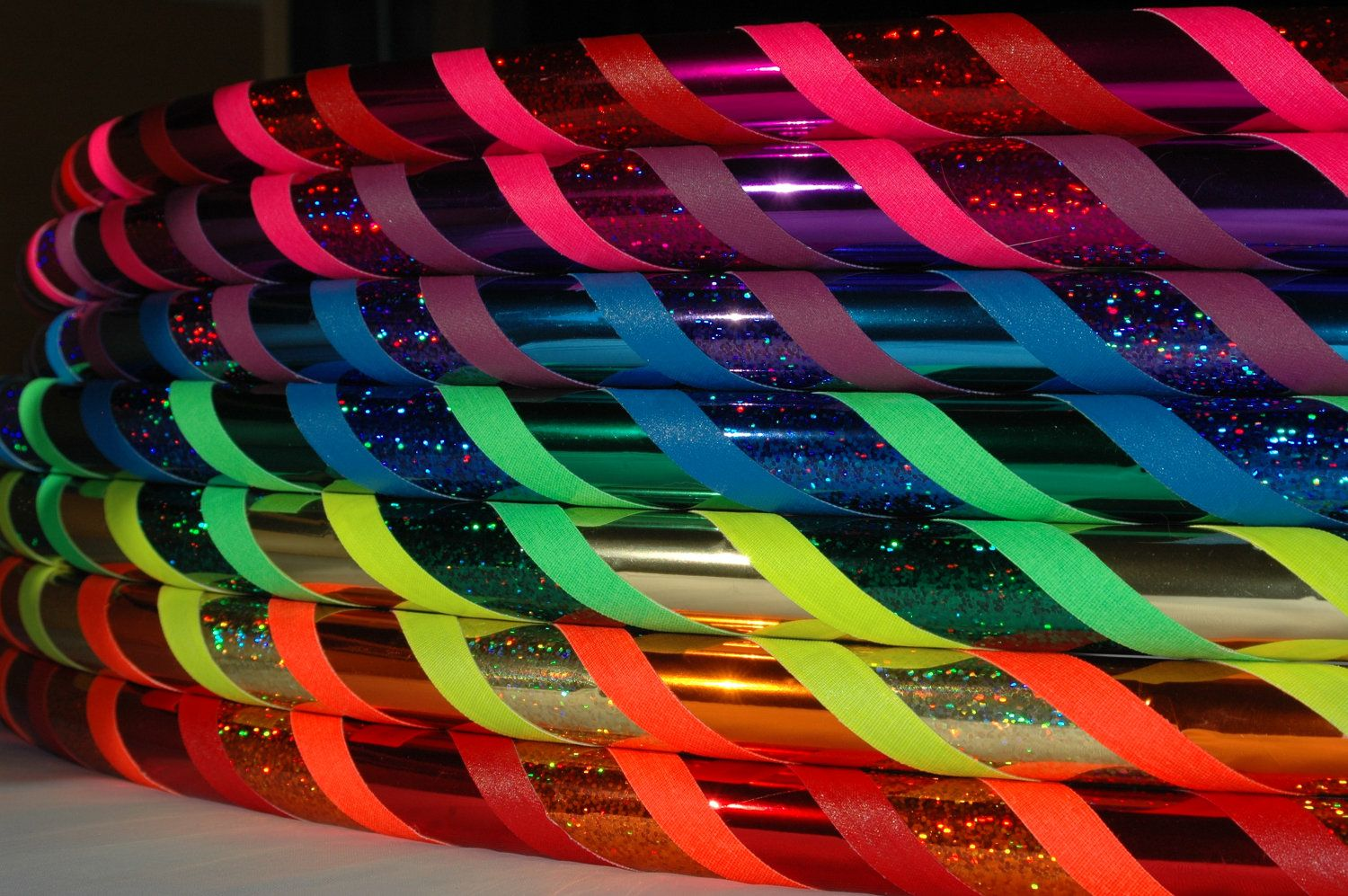 Rainbow Colored Hula Hoop Party Favors Rainbow Party