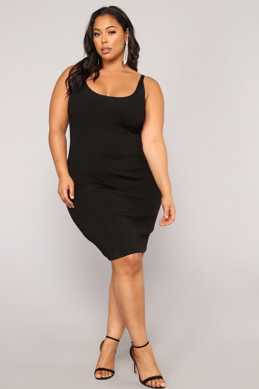 Plus Size Perspective Bandage Dress - Black $34.99 #fashion #ootd ...